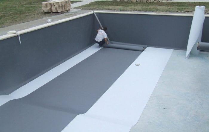 pose de membrane armée piscine Narbonne
