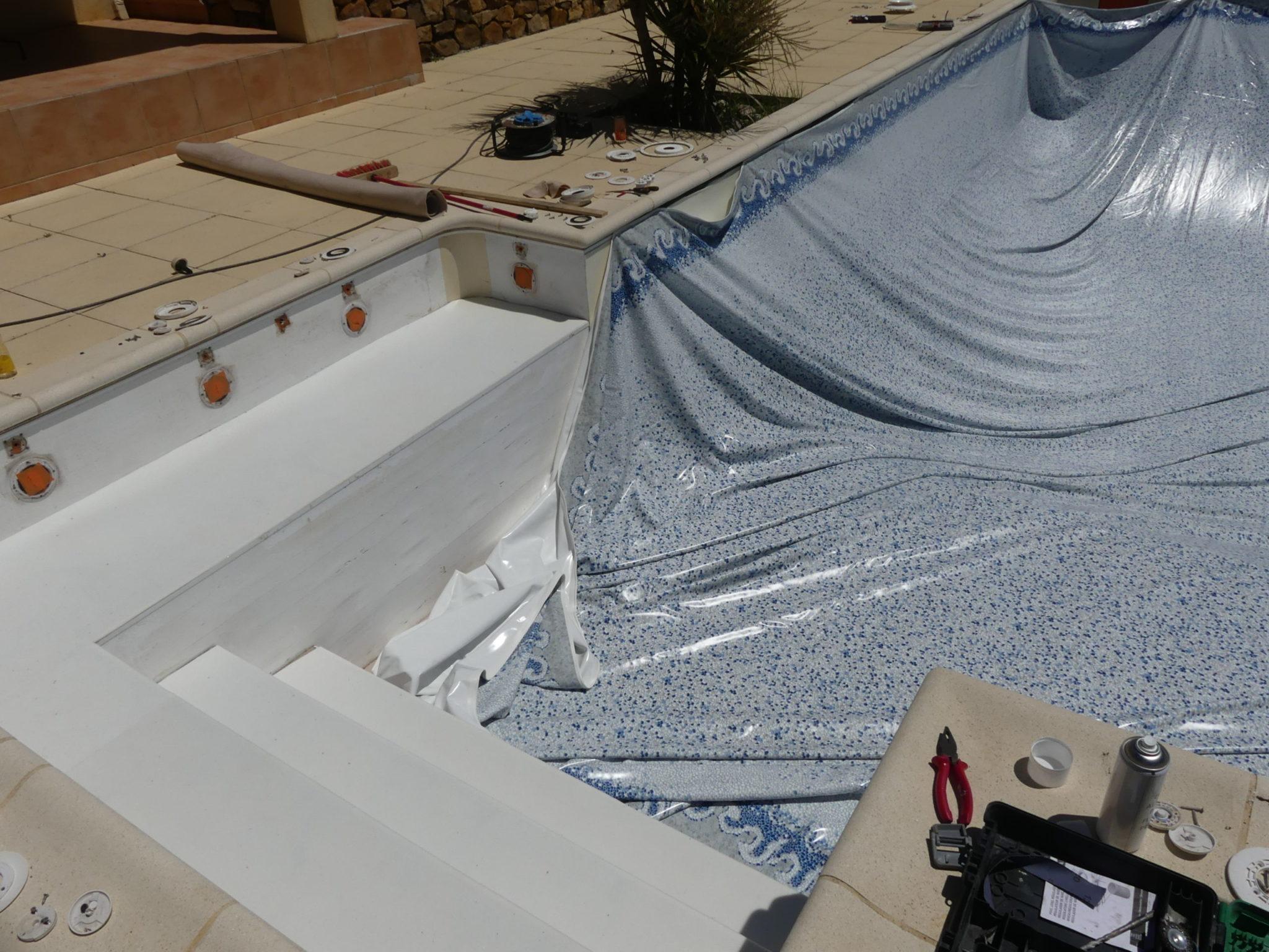 Rénovation de liner piscine par BTV-piscine, spécialiste de la construction et rénovation piscine sur Narbonne et dans tout le Languedoc Roussillon