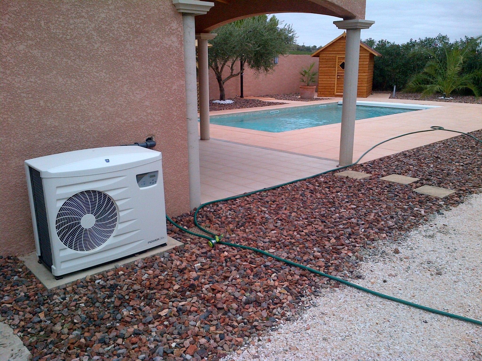 Installation d'une pompe à chaleur piscinne à Narbonne par BTV piscine