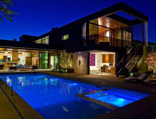 L'éclairage d'une piscine